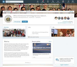 ETS LinkedIn page